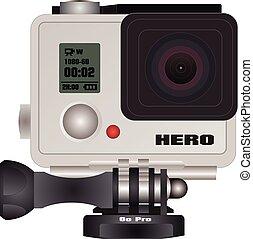 Action camera in waterproof box