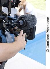 action, cameraman