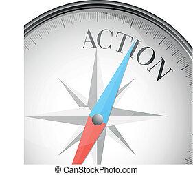 action, compas
