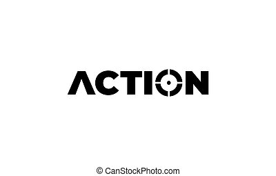 action for focus target logo design