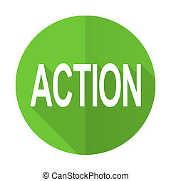 action green flat icon