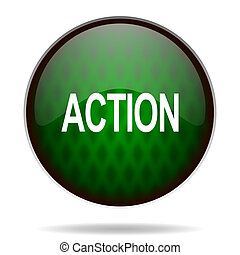 action green internet icon