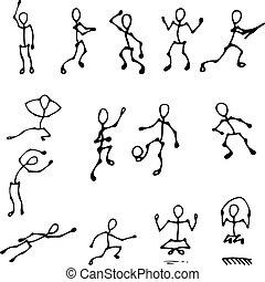 action human figures set