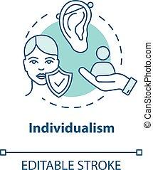 action., icon., self-affirmation., individualiste, rgb, ...
