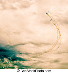 action in the sky during an airshow - Monroe, NC - Nov 9...