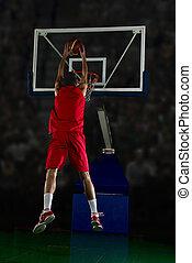 action, joueur, basket-ball