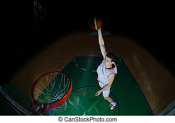 action, joueur, basket-ball