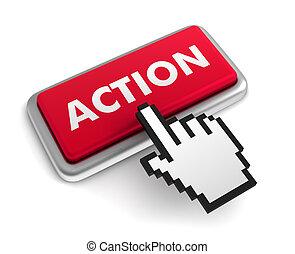 action keyboard concept illustration