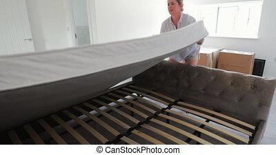 action meubler maison, nouveau, notre