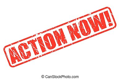 Action now red stamp text