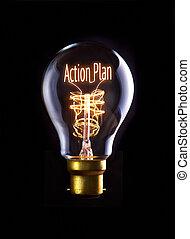 Action Plan Concept - Action Plan concept in a filament...