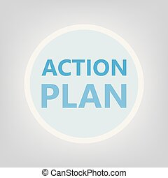 action plan concept- vector illustration