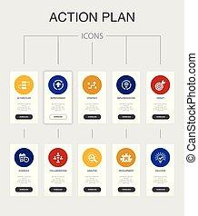 action plan Infographic 10 steps UI design.improvement,...