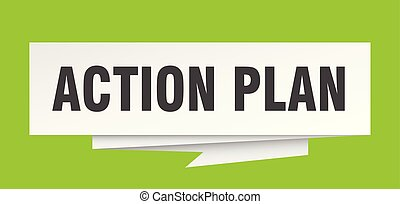 action plan sign. action plan paper origami speech bubble. action plan tag. action plan banner