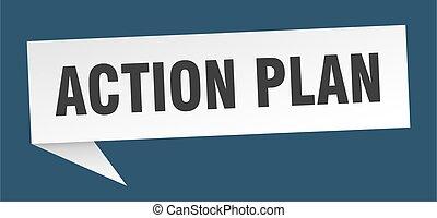 action plan speech bubble. action plan ribbon sign. action plan banner