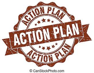 action plan stamp. sign. seal