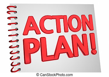 Action Plan Strategy Book Document 3d Illustration