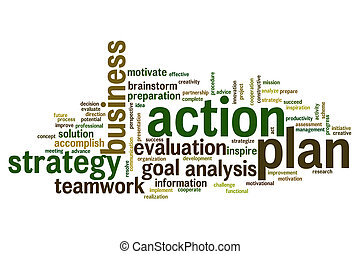 Action plan word cloud - Action plan concept word cloud ...
