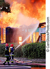 action, pompiers