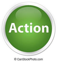 Action premium soft green round button