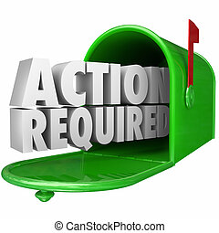 Action Required Message Mailbox Urgent Notice Legal Document