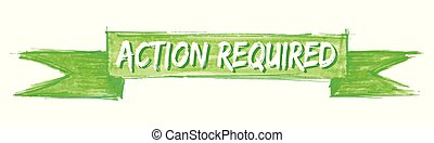 action required ribbon