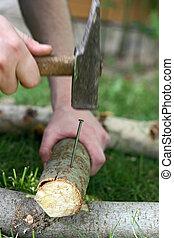hammering nail