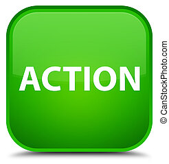 Action special green square button