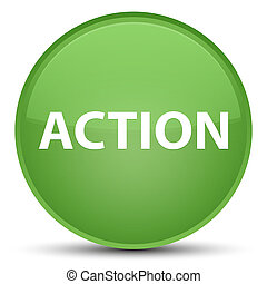 Action special soft green round button