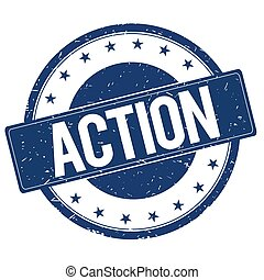 ACTION stamp sign