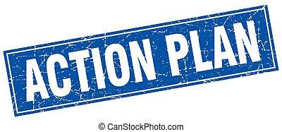 action, timbre, carrée,  plan