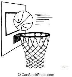Clipartist.net » Clip Art » Basketball Sports Black White ... - Cliparts.co