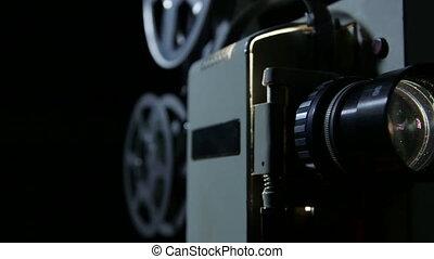 action, vendange, dolly:, projecteur, film
