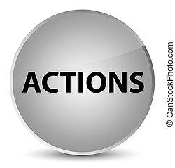 Actions elegant white round button
