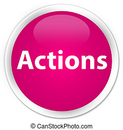 Actions premium pink round button