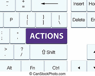 Actions purple keyboard button