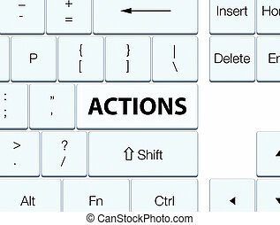 Actions white keyboard button