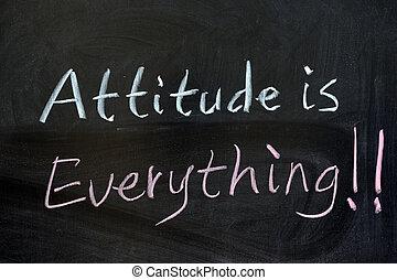 actitud, es, todo