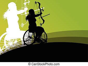 Active disabled young women in a wheelchair detailed health...
