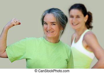 Active family - Athletic mother and daughter