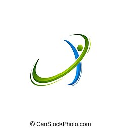 Active human characters, fitness and health abstract logo, logo template vector illustrations, active human logo, medical logo, web logo