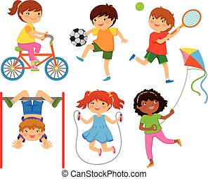 active kids playing outdoors