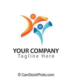 Active Life logo design,  Vector Illustration