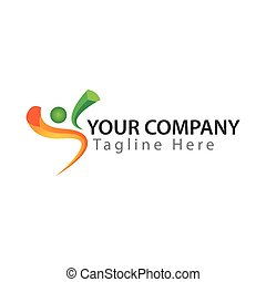 Active Life logo,  Vector Illustration on white background
