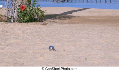 Active lifestyle in summer play bowls. - invisible people...