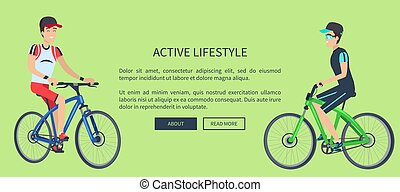 Active Lifestyle Sport Card Vector Illustration - Active...