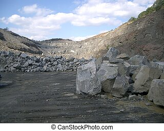 Active Limestone Quarry - Active Limestone quarry in...