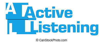 Active Listening Blue Abstract Stripes - Active listening ...