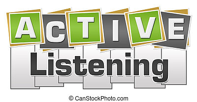 Active Listening Green Grey Squares Stripes - Active ...