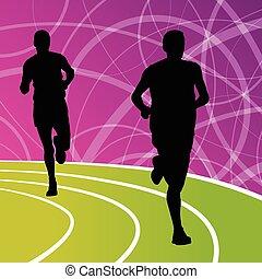 Active men runner sport athletics